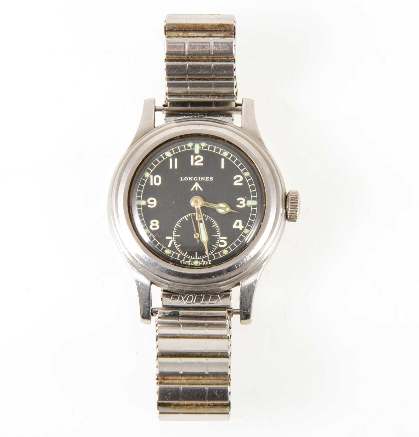 "169 - A Longines Military Issue wrist watch one of ""The Dirty Dozen"""