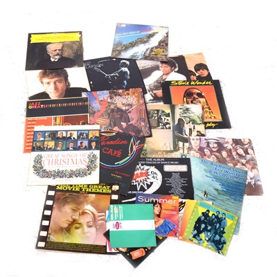 Lot 38-Vinyl LP records, aprox 70 LPs and singles including Pink Floyd, The Beatles etc.