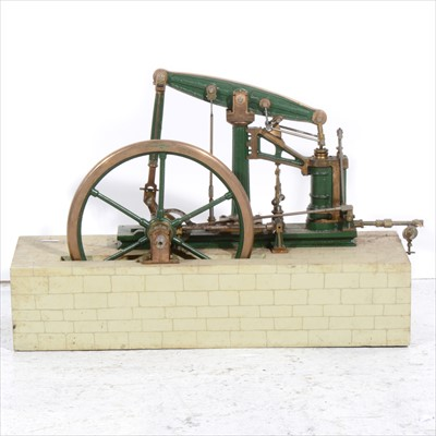 Lot 7-A well engineered beam engine; 1inch scale live steam model of the 'Sanderson' beam engine