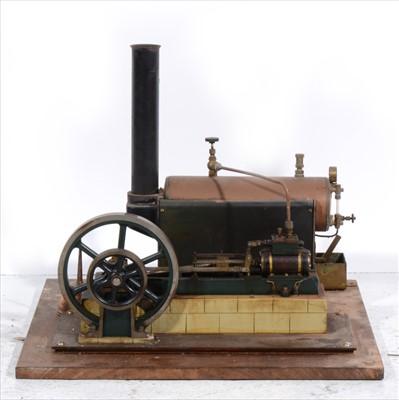 Lot 9-A Stuart Turner 'Victoria' single cylinder horizontal mill steam engine and Stuart Turner steam boiler.