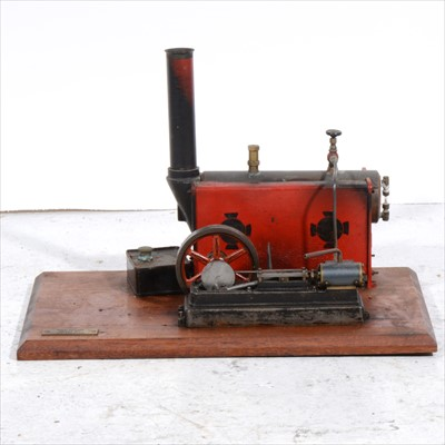 Lot 1-A Stuart Turner S50 horizontal live steam mill engine and steam boiler.