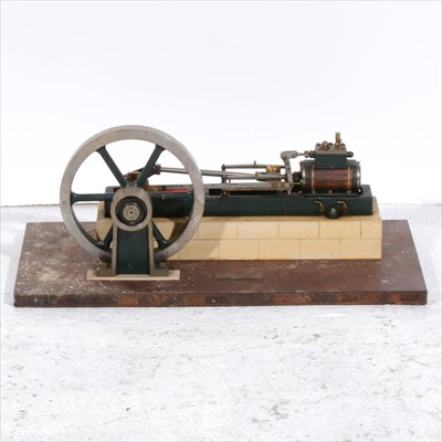 Lot 2-A Stuart Turner horizontal mill engine; live steam model with 7inch flywheel