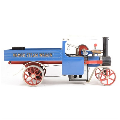 Lot 32-Mamod live steam; SW1 steam wagon engine, blue body, with burner and scuttle, unboxed.