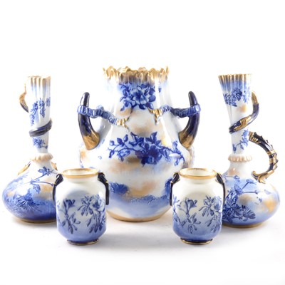 Lot 1044-Five pieces of George Jones & Sons Crescent china