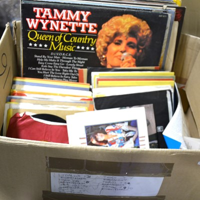 "Lot 25-Vinyl LP and 7"" single records; aprox fifty in total, including Michael Jackson, Madonna, Stevie Wonder, etc"