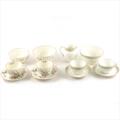 Lot 58-Two china tea services, Royal Worcester 'Dunrobin' and Crown Chelsea 'Cameo' designs