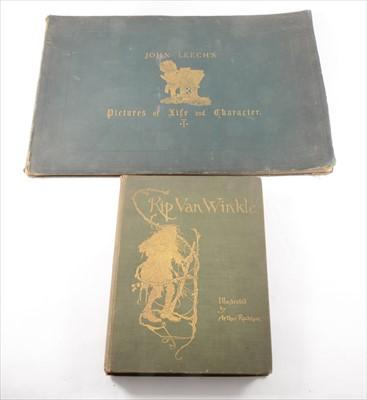 Lot 55-WASHINGTON IRVINE, [ARTHUR RACKHAM illust], Rip Van Winkle, Heinemann, 1905