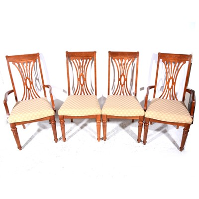 Lot 41-Victorian mahogany pull-out dining table, and set of eight reproduction chairs