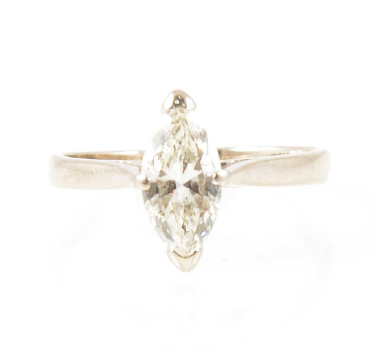 Lot 5-A diamond solitaire ring