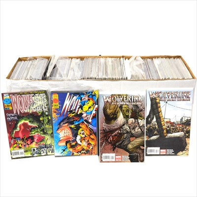 Lot 45-Modern comics; a large collection of 350+, including mostly Wolverine Origins, and Wolverine.