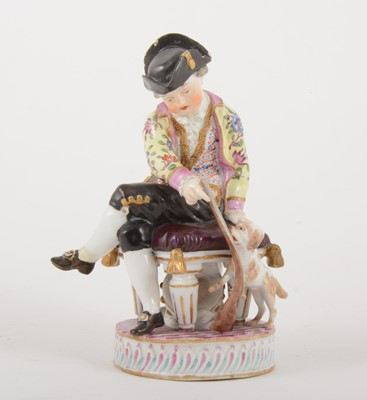 Lot 24-A Meissen porcelain figure of a boy with a puppy