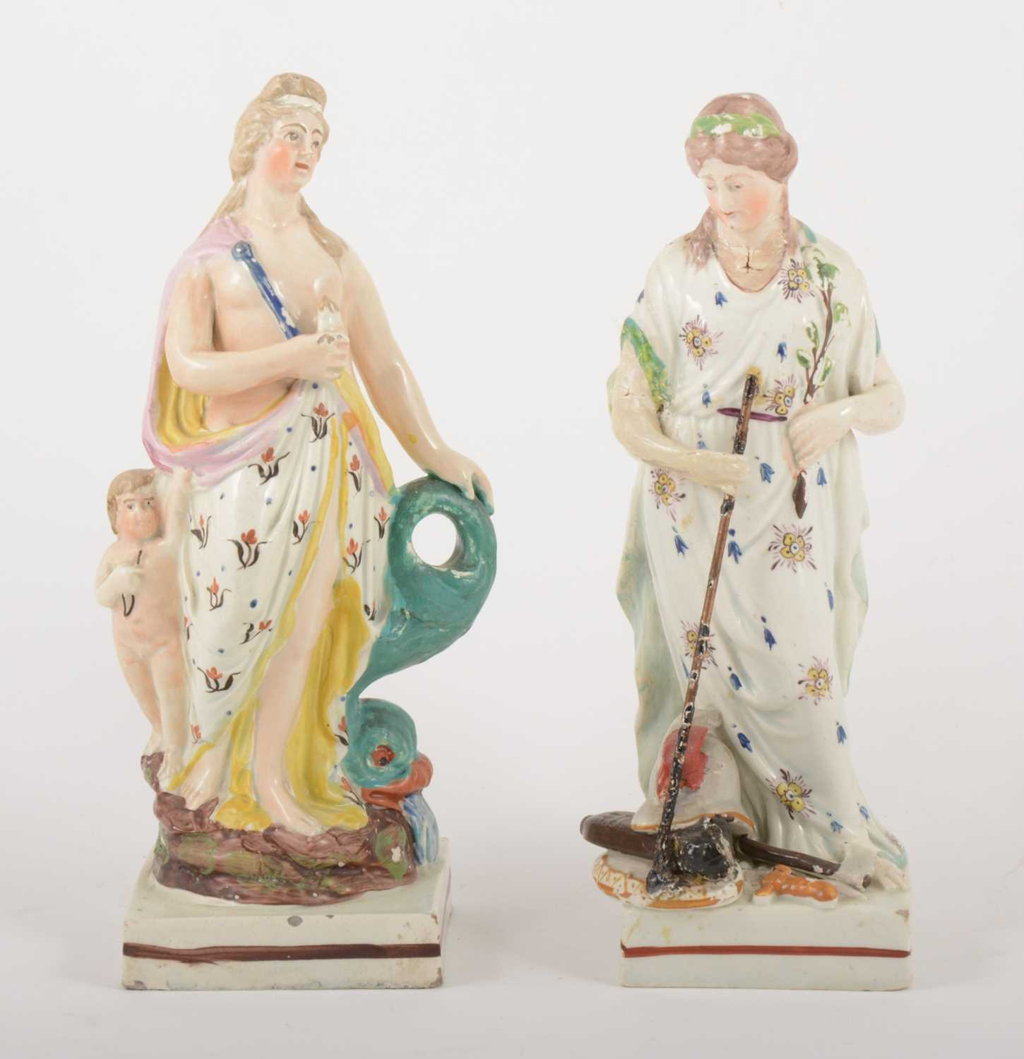 Lot 52 - A Staffordshire earthenware figure of Venus with Cupid, in the manner of Enoch Wood, circa 1820