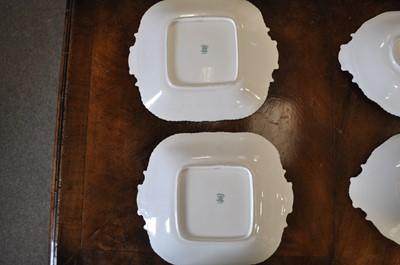 Lot 18-A Coalport scale blue ground bone china dessert service