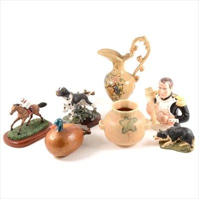 Lot 20-A Leonardo novelty teapot, various resin models and other ornamental items.