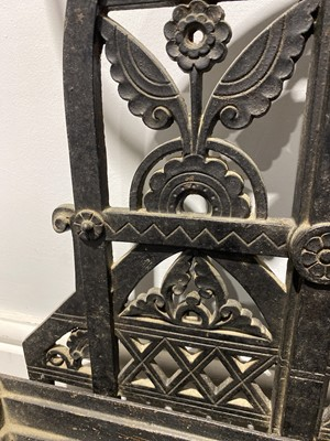 Lot 508-An Aesthetic movement cast iron hallstand, by Dr. Christopher Dresser for The Coalbrookdale Company
