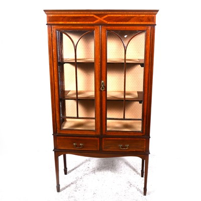 Lot 24-An Edwardian and satinwood banded display cabinet