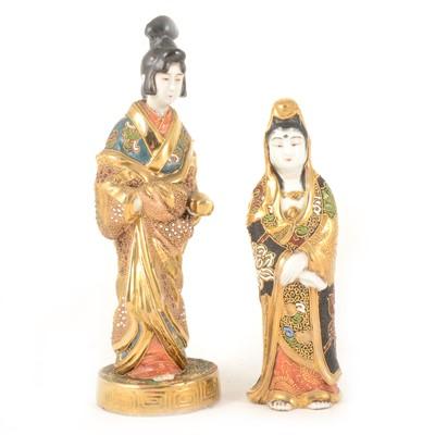 Lot 1007-Two Japanese Satsuma figures