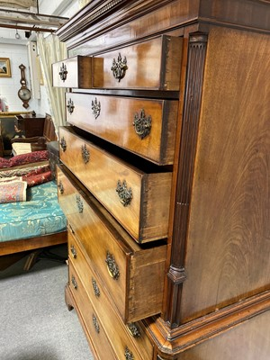 Lot 474 - A George III mahogany chest on chest