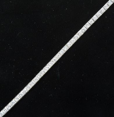 Lot 82-A diamond line bracelet..