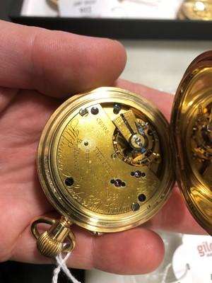Lot 215 - J W Benson London - an 18 carat yellow gold full hunter pocket watch