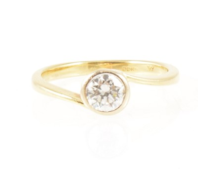 Lot 4-A diamond solitaire ring.