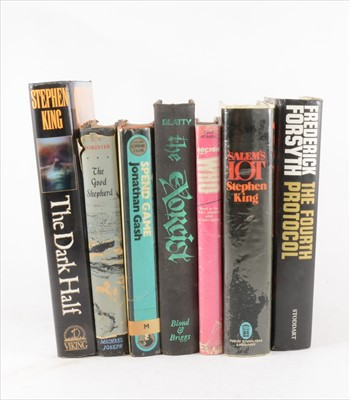 Lot 56-One tray of books including David Whitaker 'Doctor Who', 1964, pink dust jacket, 1st ed.