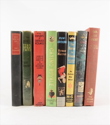 Lot 59-One tray of books, including Ian Fleming, John Gardner, and other crime/ spy novels