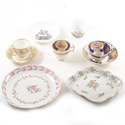 Lot 53-Three books on New Hall porcelain and a small collection of 19th century china