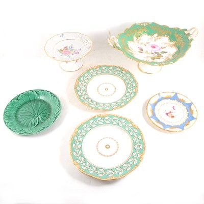 Lot 34-Victorian porcelain part dessert service, other Victorian ware and decorative china