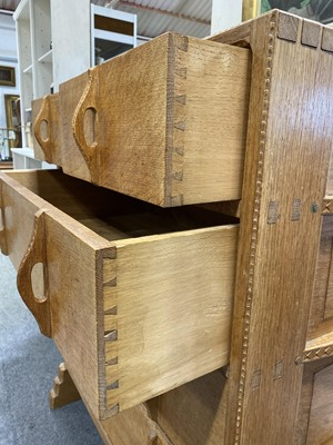 Lot 535-An Arts and Crafts oak chest of drawers, attributed to Sidney Barnsley