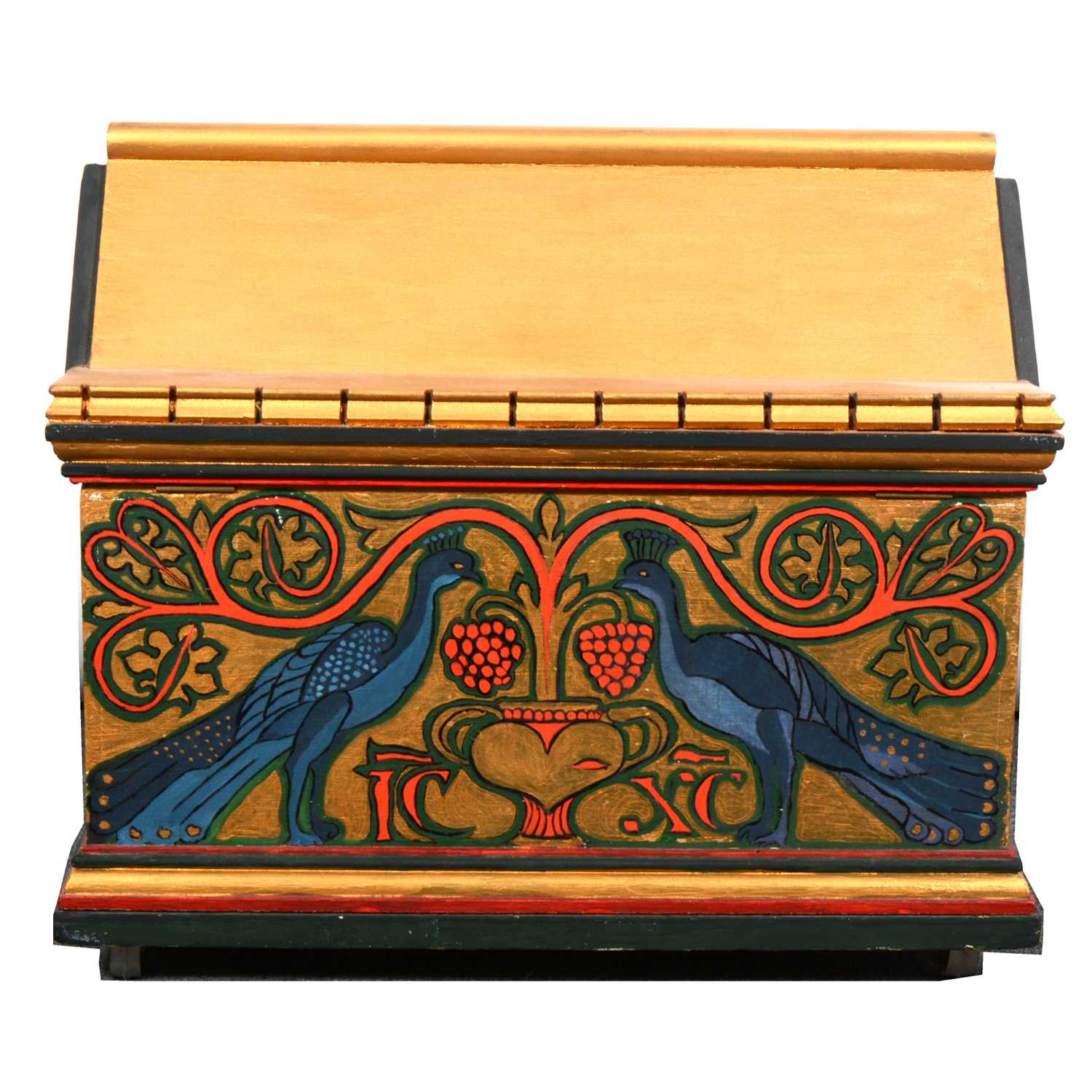 Lot 502-A contemporary Gothic style casket