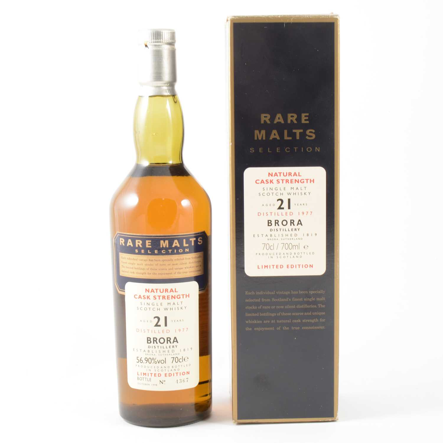 Lot 304 - BRORA - 1977, 21 years old, Rare Malts Selection, limited edition single malt whisky