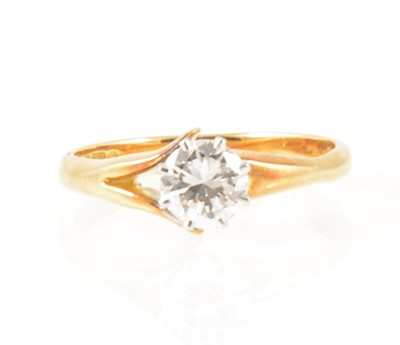 Lot 3-A diamond solitaire ring.