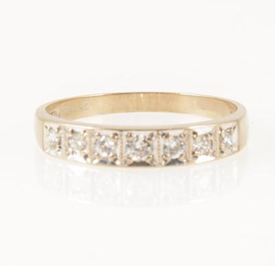 Lot 16-A diamond half eternity ring.