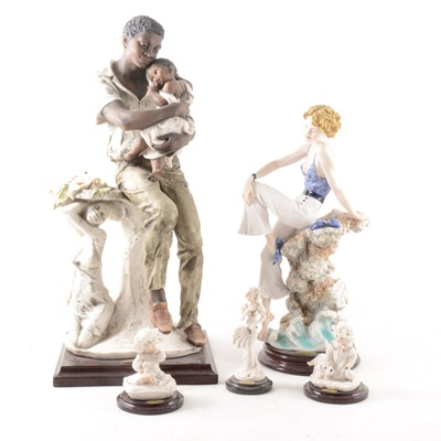 """Lot 7-Giuseppe Armani, Florence and other figures; six including """"Tomorrow's Dream"""""""