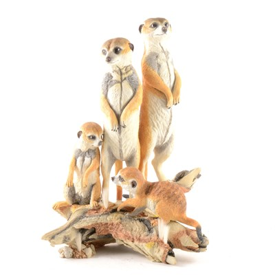 Lot 1043-Country Artists figural group, 'Meerkats - Guardians'