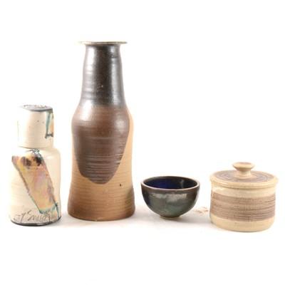 Lot 1048-One box of Studio pottery items