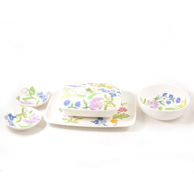 Lot 45-A contemporary Italian dinner service, floral decoration.