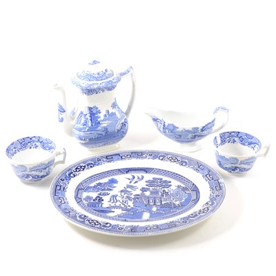 Lot 51-A quantity of blue and white tableware, mostly Copeland Spode's Italian