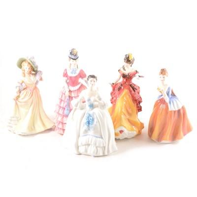 Lot 2-Five Royal Doulton figurines