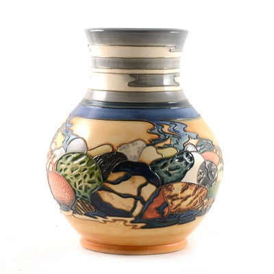 Lot 6-A Moorcroft Pottery Collector's Club vase, 'Rocky Shore' design