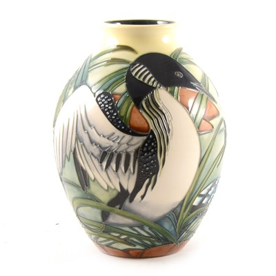 Lot 12-A 'Toridon' vase designed by Philip Gibson for Moorcroft Pottery, 2005