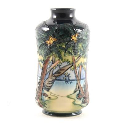 Lot 4-Kiribati pattern vase, Moorcroft Pottery