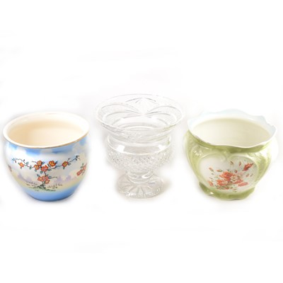 Lot 25-Cut glass campana-shape pedestal bowl
