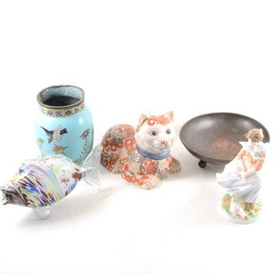 Lot 21-Small quantity of ceramics, including Wedgwood, Noritaki and Coalport figures, etc