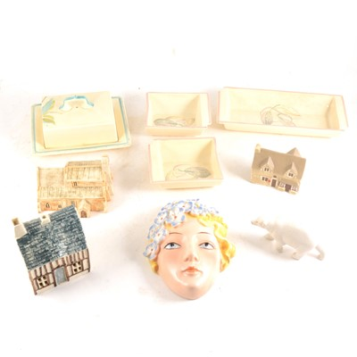 Lot 30-A collection of decorative ceramics including Susie Cooper and Lilliput Lane