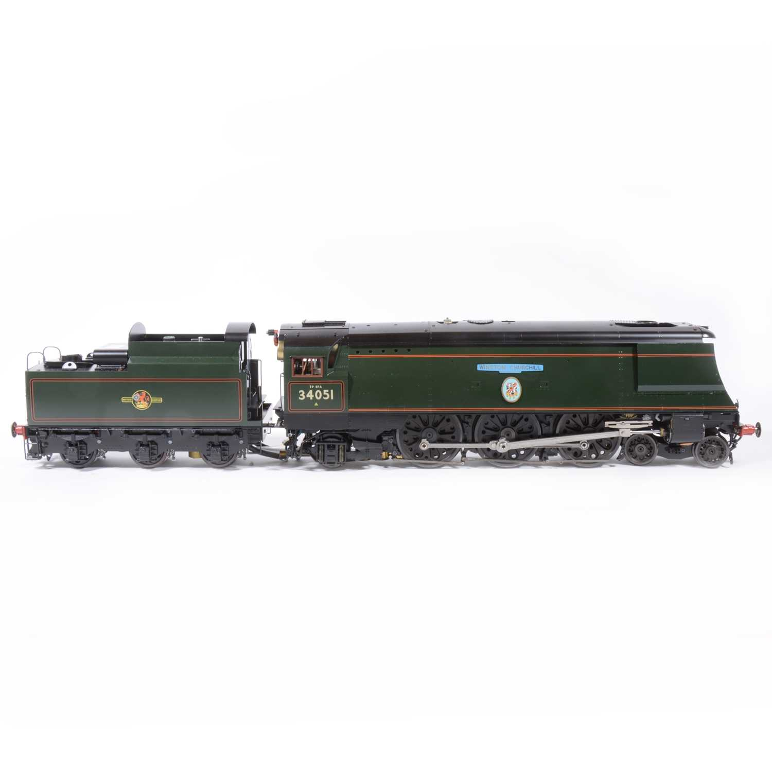 Lot 1 - Aster Hobby live steam, gauge 1 / G scale, 45mm locomotive and tender; 'Winston Churchill' BR no.34051, in wooden case.
