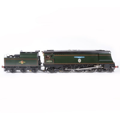 Lot 1-Aster Hobby live steam, gauge 1 / G scale, 45mm locomotive and tender; 'Winston Churchill' BR no.34051, in wooden case.
