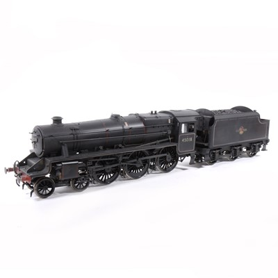 Lot 2 - Bachmann electric, gauge 1 / G scale, 45mm locomotive and tender; LSL13 'Black Five' 4-6-0 BR  no.45018, in wooden case.