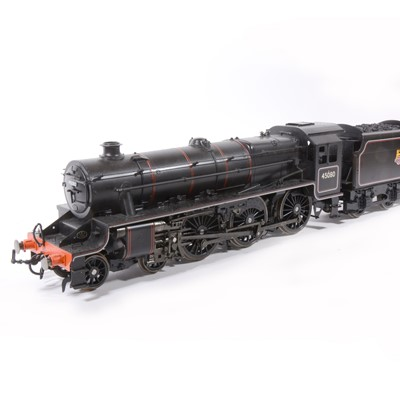 Lot 3-Accucraft electric, gauge 1 / G scale, 45mm locomotive and tender; 'Black Five' BR no.45080, in wooden case.